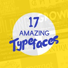 If it's typography that you want,we've got the best list for you.