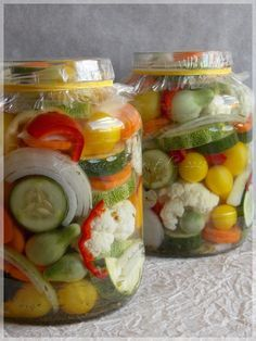 Chinese pickles and Italian pickles Canning Recipes, My Recipes, Favorite Recipes, Croatian Recipes, Hungarian Recipes, Hungarian Cuisine, Diy Food, Pickles, Food Porn