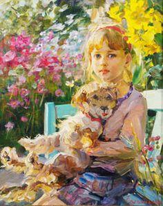 With the dog-artist Elena Salnikova