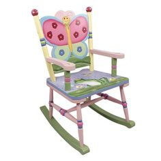 Our Magic Garden Rocking Chair by Teamson Kids is part of the Teamson Kids Magic Garden Collection. Constructed of hand-carved, hand-painted wood, the Teamson Kids Magic Garden Rocking Chair makes a great addition to children's bedrooms and playrooms. Childrens Bedroom Furniture, Nursery Furniture, Kids Furniture, Painted Furniture, Furniture Stores, Furniture Decor, Wooden Rocking Chairs, Childrens Rocking Chairs, Wooden Rocker