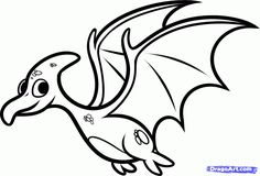 Free printable coloring pages Baby-Dinosaur-Coloring-Pages-How-To-Draw-A-Pterodactyl-For-Kids-Step within Cartoon Pterodactyl Coloring Pages and others free printable coloring pages for kids and adults! Dinosaur Coloring Pages, Animal Coloring Pages, Coloring Book Pages, Dinosaur Drawing, Cartoon Dinosaur, Simple Cartoon, Cute Cartoon, Dinosaur Template, Coloring Sheets For Kids