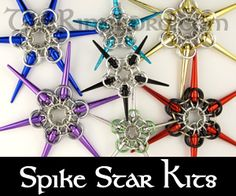 TheRingLord.com Chainmail Jump Rings jumprings Scalemail Jewelry Supplies and Wire - Chainmail Project Kits - includes video for the spike star