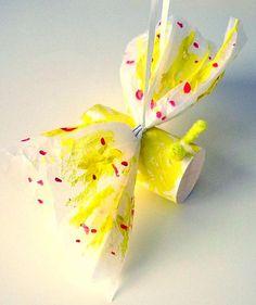 Schmetterling aus Seidenpapier - Tiere Basteln - Meine Enkel und ich