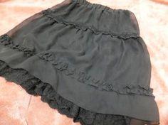 axesfemme レースフレアスカート 黒 重ね ボトムス 美品