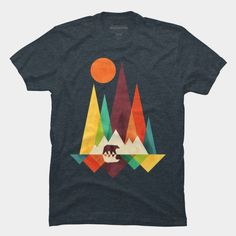 Mountain Bear T Shirt By Radiomode Design By Humans #tshirtdesign