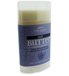 Baby Body Butter - Mother & Baby - Rocky Mountain Soap I have ton's of luck with this product . I want to try making my own since this costs $12.99 and we go through lots of it all summer.