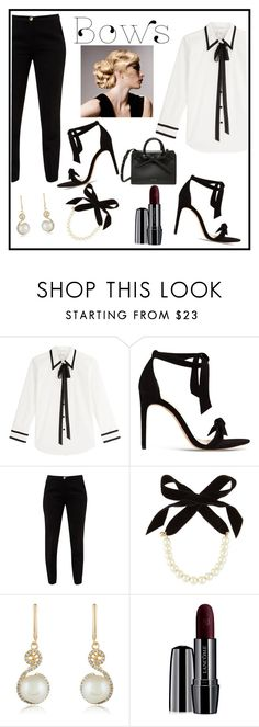 """bow"" by kaykaydabosss ❤ liked on Polyvore featuring Marc Jacobs, Alexandre Birman, Ted Baker, Lulu Frost, Effy Jewelry and Lancôme"