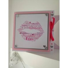 Kiss Lips Personalised Birthday Card