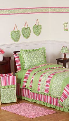 Olivia Girls Bedding Collection #kids #rooms #bedroom