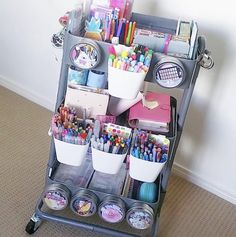 51 Best Classroom Decoration Ideas - Chaylor & Mads 51 amazing classroom decoration ideas including how to create a cozy reading nook, an amazing teacher space, awesome bulletin boards and wait until you see this Craft Room Storage, Craft Organization, Organizing, Stationary Organization, Art Supplies Storage, Sticker Organization, Homework Organization, Study Room Decor, Cute Room Decor