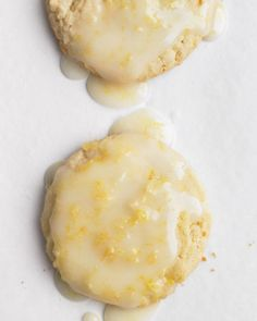 """See the """"Glazed Lemon Cookies"""" in our Lemon Recipes gallery~ Martha Stewart via Baking and Cooking, A Tale of Two Love onto Spring! Köstliche Desserts, Lemon Desserts, Lemon Recipes, Sweet Recipes, Dessert Recipes, Recipes Dinner, Healthy Recipes, Easy Recipes, Delicious Recipes"""
