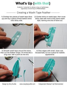 washi tape feather, ways to use washi tape, What's Up Wednesday