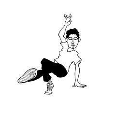 Downloadable B-Boy pdf gift wrap - Dancer #3