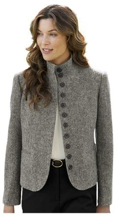 4cbd0a57dfbc5 Orvis Women s Donegal Tweed Stand-col...  107.20 Cute Spring Outfits