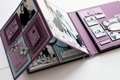 Mini album page layout ideas for your photos.