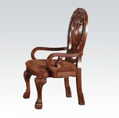 Acme Furniture - Quinlan Arm Chair in Cherry (Set of 2) - 60269