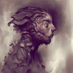 """""""Folium"""" Digital, corel painter, 2014."""