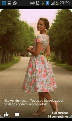 Vestido rodado florido