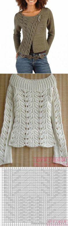 66 New Ideas Knitting Crochet Sweater Ravelry Crochet Vest Pattern, Sweater Knitting Patterns, Lace Knitting, Knitting Stitches, Knitting Designs, Knit Patterns, Knit Crochet, Knitting Sweaters, Learn Crochet