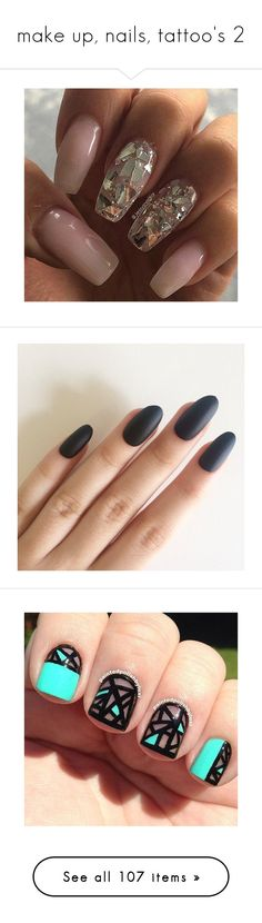 """make up, nails, tattoo's 2"" by lulu-dusk on Polyvore featuring beauty products, nail care, nail treatments, nails, beauty, makeup, nail polish, shiny nail polish, art nail polish and sticker nail polish"