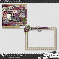 Scrapbooking TammyTags -- TT - Designer - Connie Prince, TT - Item - Frame, TT - Style - Cluster, TT - Pattern - Lined or Grid, TT - Thing - Flower