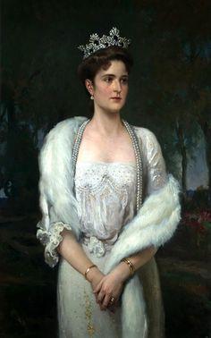 Portrait of Empress Alexandra Feodorovna by Alexander Makovsky