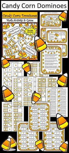 Halloween Activities: Pumpkins & Candy Corn Halloween Tic-Tac-Toe ...