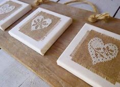 Embroideries on canvas - clever idea. Heart Cross Stitch decoration by BijdeDijk on Etsy Cross Stitch Finishing, Cross Stitch Heart, Cross Stitching, Cross Stitch Embroidery, Embroidery Patterns, Hand Embroidery, Cross Stitch Designs, Cross Stitch Patterns, Burlap Crafts