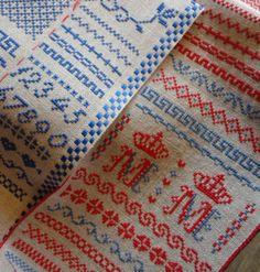 "My ""Randje per Week"" embroidery. M M are my initials."