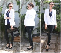 outfits blazer white night - Buscar con Google