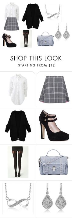 """""""School 01"""" by taylor-ross115 ❤ liked on Polyvore featuring rag & bone, Paul & Joe Sister, Kate Spade, Boohoo and Proenza Schouler"""
