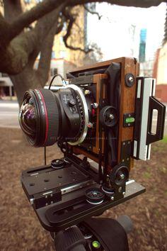 "Chamonix 045N-2 view camera (4""x5"") with Canon TS-E 17mm f/4L in a copal shutter !!!!!!!!!!!!!!!!!!!!!!!!!!!"