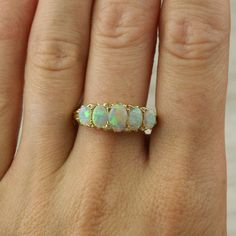 Antique opals..Rare But beautiful! Reminds me of Rapunzel's Tiara in Tangled!