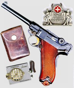 Swiss Lugers and revolvers Luger Pistol, Revolver Pistol, Ar Pistol, Revolvers, Home Defense, Cool Guns, Military Weapons, Guns And Ammo, Tactical Gear