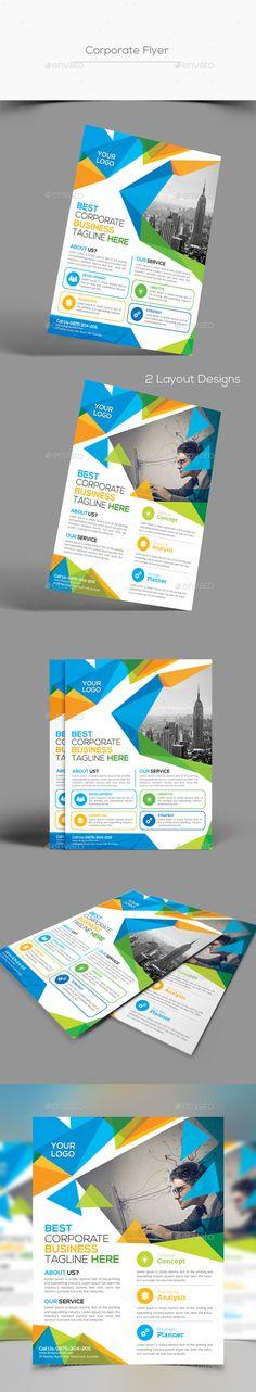 Corporate Flyer Template PSD #design Download: http://graphicriver.net/item/corporate-flyer-/14483173?ref=ksioks