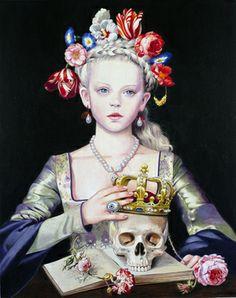 "Saatchi Online Artist Titti Garelli; Painting, ""Vanitas"" #art"