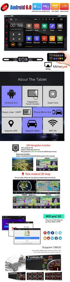 Video In-Dash Units w GPS: 2 Din 7 In-Dash Android 6.0 Quad Core Car Stereo Dvd Player Radio Gps Wifi Obd2 -> BUY IT NOW ONLY: $204.86 on eBay!