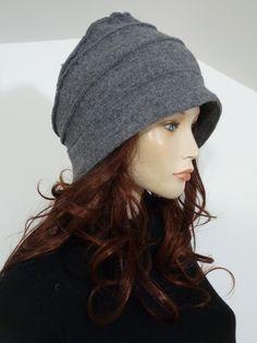 Effortlessly chic lagenlook funky grey boiled wool asymmetric brim 1930's cloche style ladies hat   NEW by whitebagheera on Etsy https://www.etsy.com/listing/165545287/effortlessly-chic-lagenlook-funky-grey
