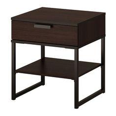 TRYSIL Ablagetisch - dunkelbraun/schwarz  - IKEA