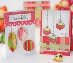Christmas cards using die-cuts