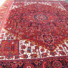 Genuine Handwoven Wool Persian Heriz Rug located in Washington DC, Maryland, Virginia.