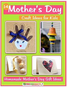 FREE e-Book: 14 Mother's Day Craft Ideas for Kids! #ebooks #mothersday #crafts