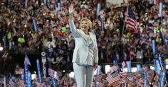 By choosing a white suit, the presidential nominee honored the women who had gone before her.