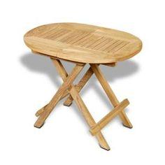 Table basse en teck Ovale pliante 60x40 cm - Table basse pliable ovale en Teck massif de qualité Grade A. 60 x 40 x h50 cm. Plateau épaisseur 3 cm. el