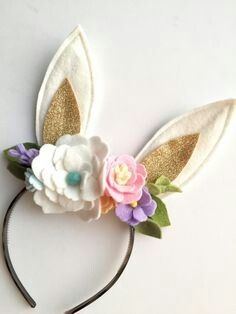 Adult Bunny Ear Clips Headwear Spring Easter Hair Adult Costume Accessory