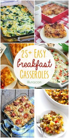 25+ Breakfast Casserole Recipes - Delicious and EASY!! A must-see on { lilluna.com }
