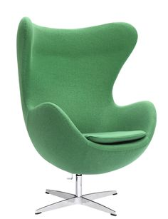Arne Jacobsen Egg Chair In Green Wool