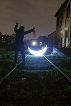Leonid Tishkov: Private Moon_Journey to Paris Today's moon is yesterday's sun Homage to the Pioneer Mitya AbrosimovAn accident on the railroad like yesterday's sun