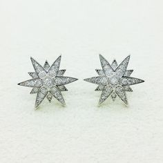 Crystal Stud Earrings for Women @ https://www.gokoco.com/gkc/fashion-jewelry/crystal-super-star-stud-earrings-with-cubic-zirconia-whitegold-coating.html #studearrings #womensearrings #crystalearrings #starearrings #studearrings