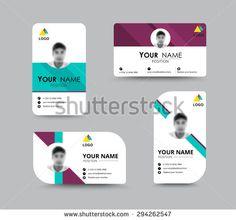 비즈니스 인사말 카드 서식 파일 디자인. 카드 샘플 텍스트 위치를 포함 소개합니다. 벡터 일러스트 레이 션 디자인.